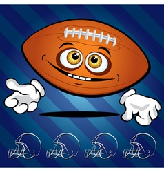 smiling football vector image