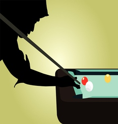 Snooker player silhouettes vector