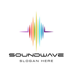 Sound wave logo design vector