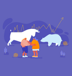 stock market exchange trading on fund stock vector image