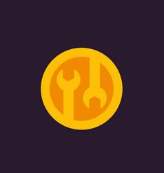 tools icon configuration repair pictogram vector image