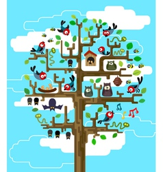 Tree with inhabitants vector