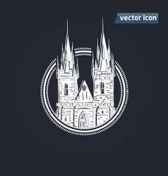 tyn church vector image