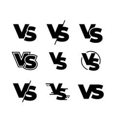 versus black logos challenge vs sign sport match vector image