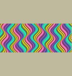 vertical groovy pattern wavy lines in sixties vector image