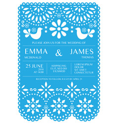 Wedding invitation card template - mexican vector