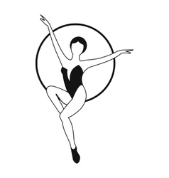 Woman trapeze artist simple icon vector