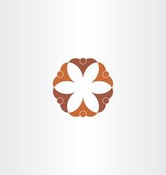 brown icon people teamwork symbol vector image