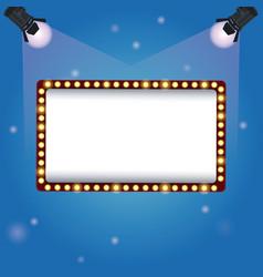 color background spotlights with billboard banner vector image