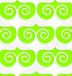 Colored 3D green swirled hearts vector image vector image