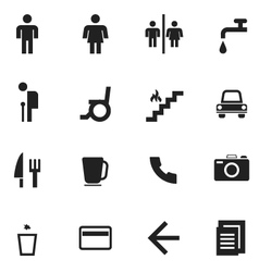 pictogram symbol icon entrance toilet vector image