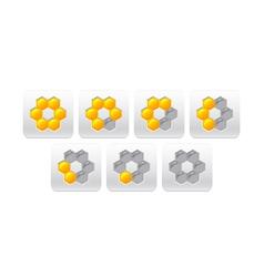 progress bar with honeycomb vector image