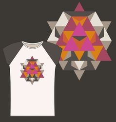 Star Tetrahedron for a woman t shirt vector image vector image
