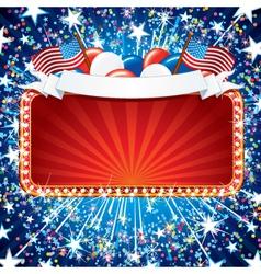 USA Celebration Sign vector image