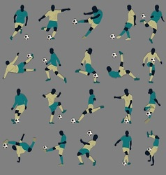 20 Soccer Silhouette vector image