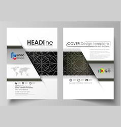Business templates for brochure magazine flyer vector