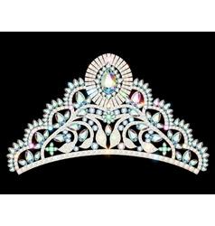 crown diadem tiara women vector image vector image