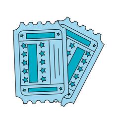 Entertainment tickets icon vector
