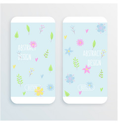 small flowers pattern with daisy vector image