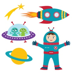space elements set vector image vector image