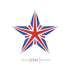 star made of crystals with United Kingdom flag vector image vector image