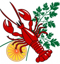 vector seafood dinner vector image vector image