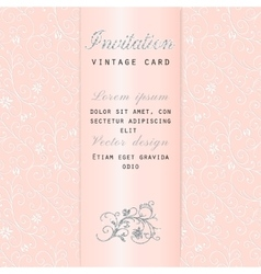 Vintage floral invitation vector image vector image