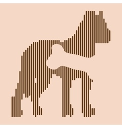 Animal hungry icon vector image vector image