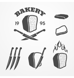 Bread and bakery vector image