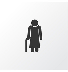 grandma icon symbol premium quality isolated old vector image