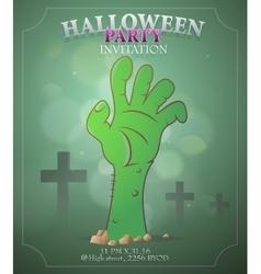 Halloween party invitation design vector image