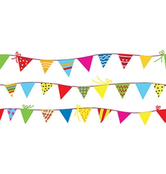 Seamless pattern with bunting flags vector image