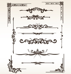 Vintage elements set vector