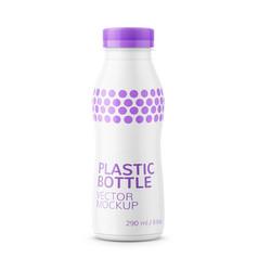 white milk bottle template vector image
