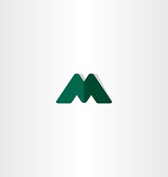 green logotype element letter m symbol vector image vector image