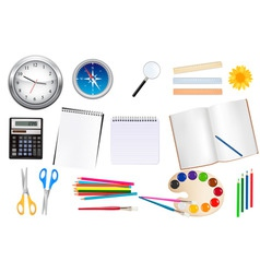 set of school supplest vector image