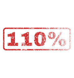 110 percent rubber stamp vector image