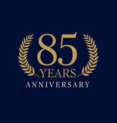 85 anniversary royal logo vector image
