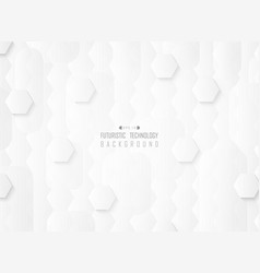 abstract futuristic gradient white pattern vector image