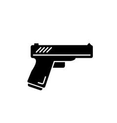 Action flick black glyph icon popular movie genre vector