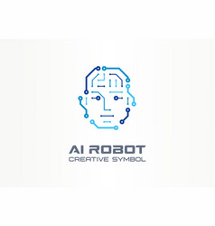 ai robot technology creative symbol machine vector image