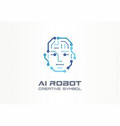 Ai robot technology creative symbol machine vector