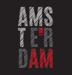 Amsterdam tee print t-shirt design graphics stamp vector