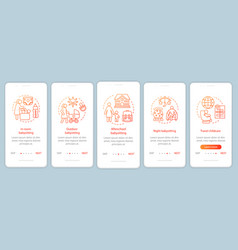 Babysitting service onboarding mobile app page vector