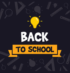 back to school design blackboard banner vector image