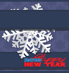 Background composed of winter snowflakes vector
