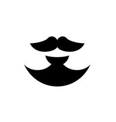 Balbo style anchor beard vector