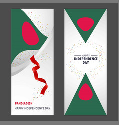 Bangladesh happy independence day confetti vector