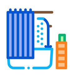 bathroom icon outline vector image