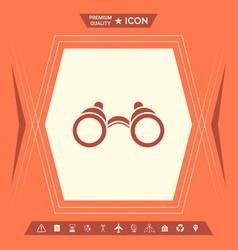 binoculars symbol icon vector image